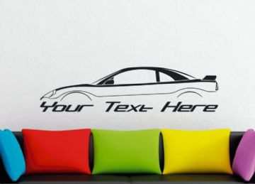 Large Custom car silhouette wall sticker - for Mitsubishi Eclipse 3G  , GT GTS coupe